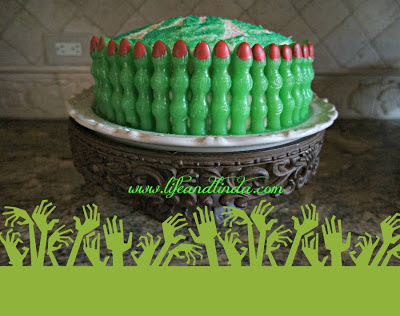 Witch Finger Cake