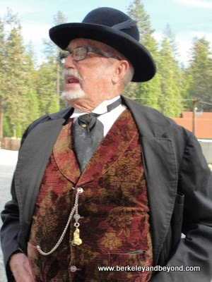 Living History character at Empire Mine State Historic Park in Grass Valley, California