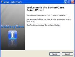 Saving Battery With BatteryCare 0.9 setup