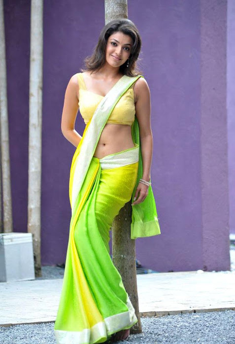 kajal agarwal test saree in business man hot photoshoot