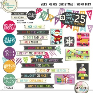 Very Merry Christmas collection by Akizo Designs