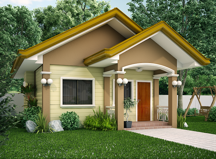 15 beautiful small house free designs bahay ofw for Small house architecture