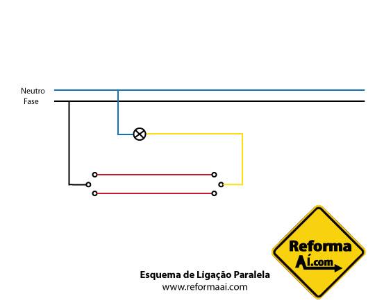 Desenho Técnico Ligação em Paralelo