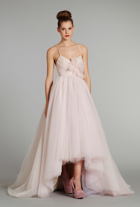 Ugly pink bridesmaid dress