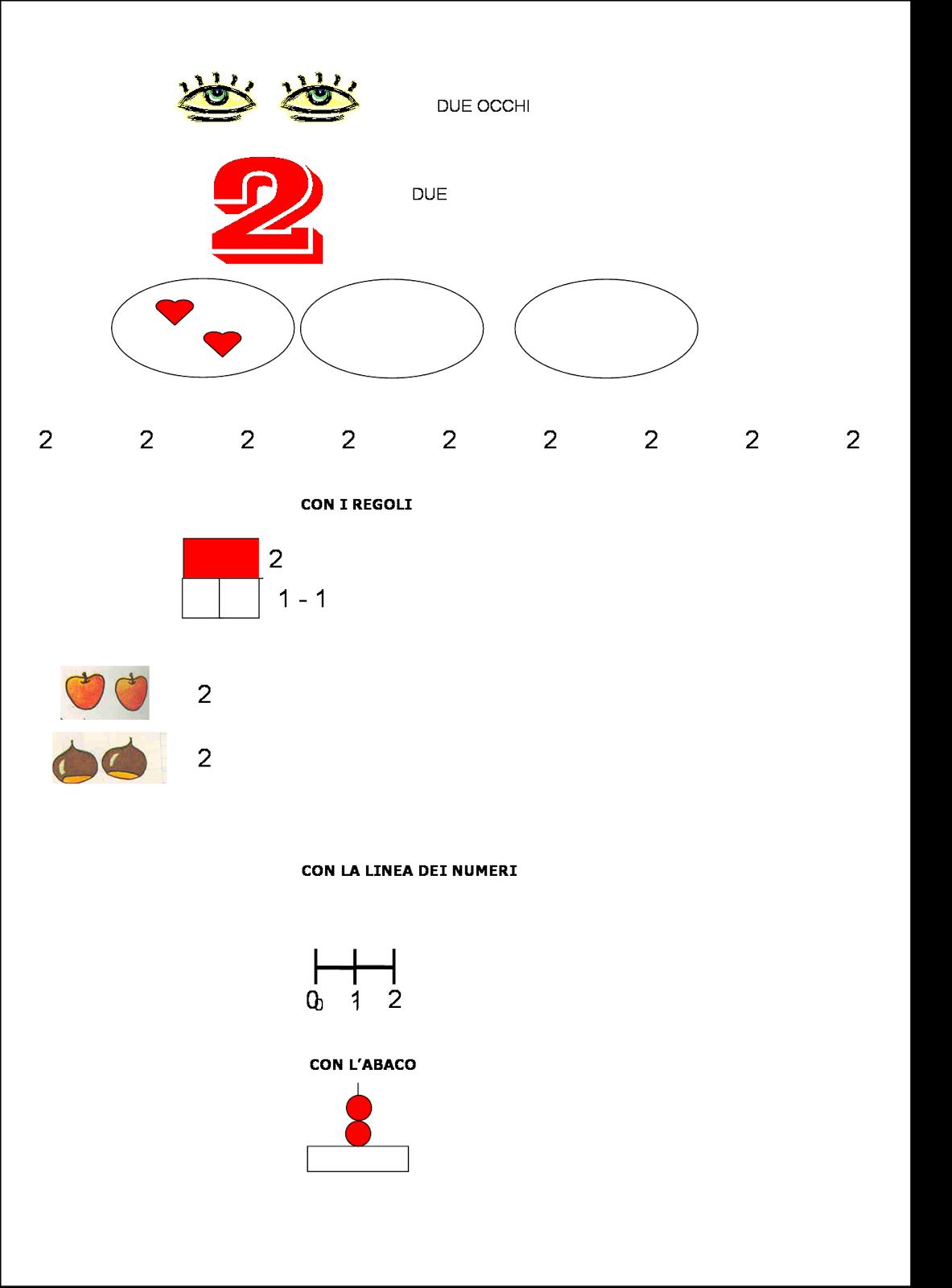 Didattica matematica scuola primaria i numeri da 0 a 9 - Parole con due significati diversi ...