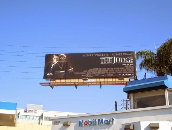 The Judge movie billboard