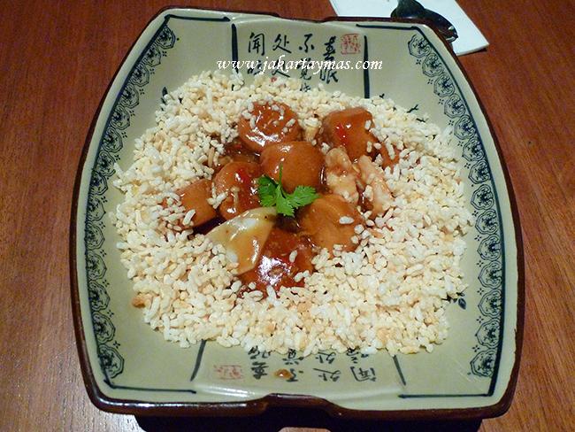 Tofu en el restaurante Fook Lew Jakarta
