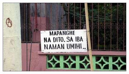 Bawal umihi dito sa iba naman pinoy sign gag