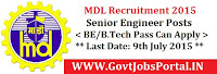MDL Recruitment 2015