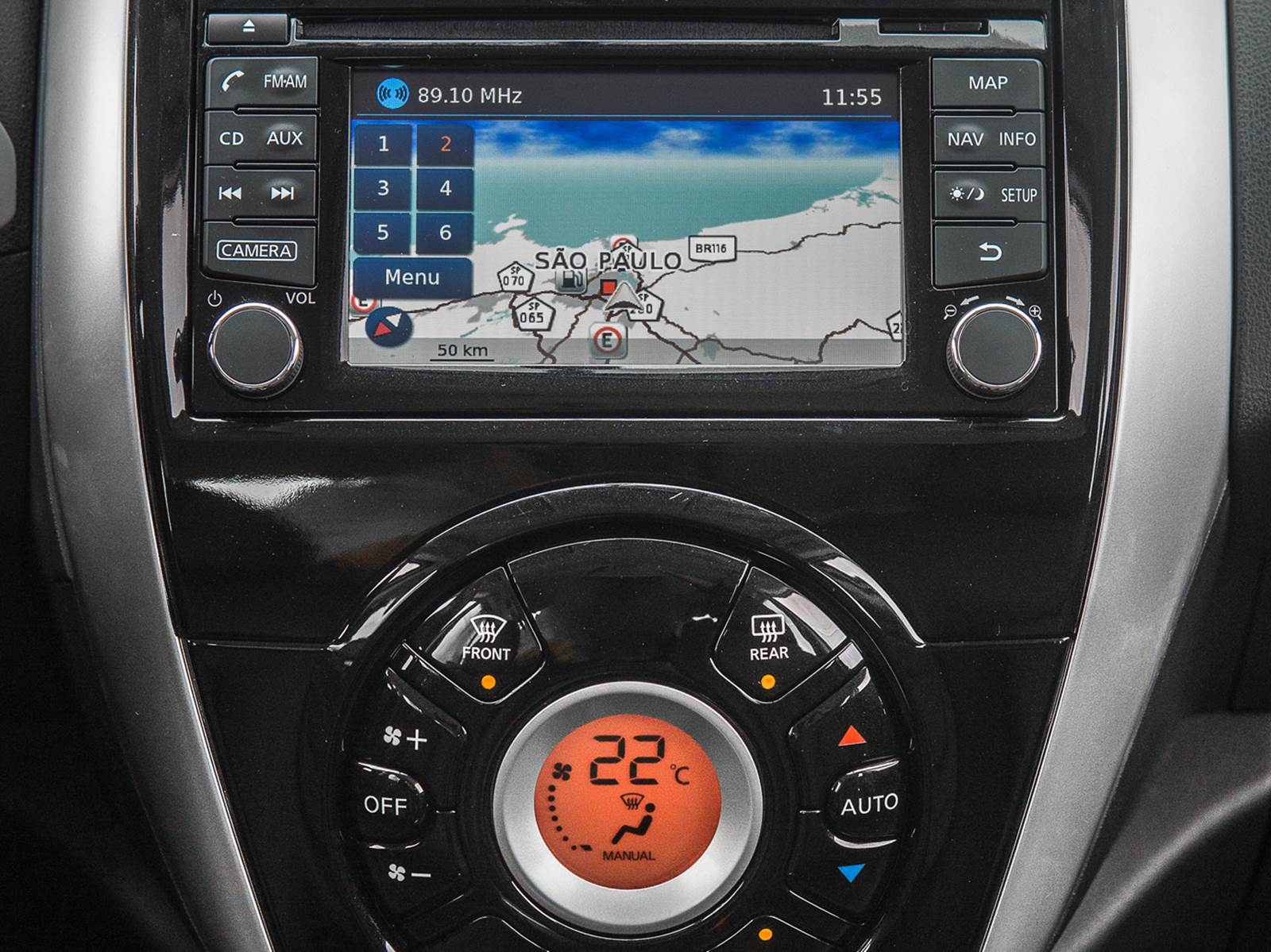 Novo Nissan Versa 2016 - central multimídia com GPS