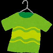 洗濯物・物干しのイラスト「Tシャツ」