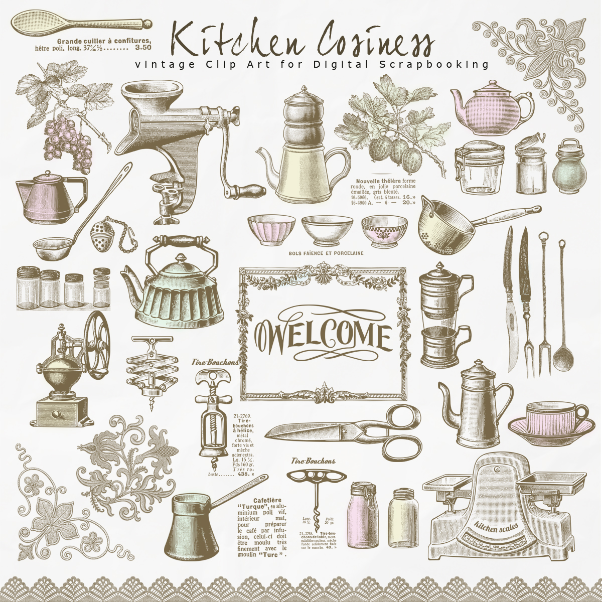Retro Kitchen Illustration: Free Database Of Digital