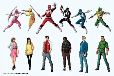 POWER RANGERS Movie character designs