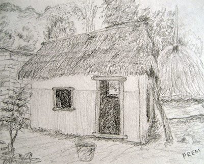 Sketch of Small Hut