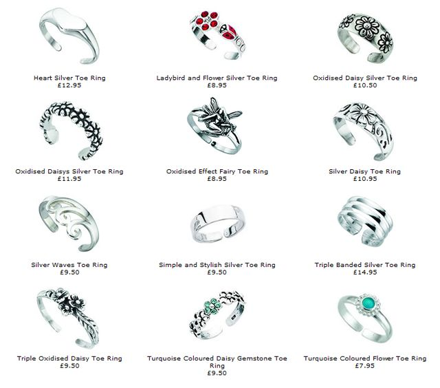 Holidays Gifts Ideas - Silver Toe Rings by Shop4silver.co.uk