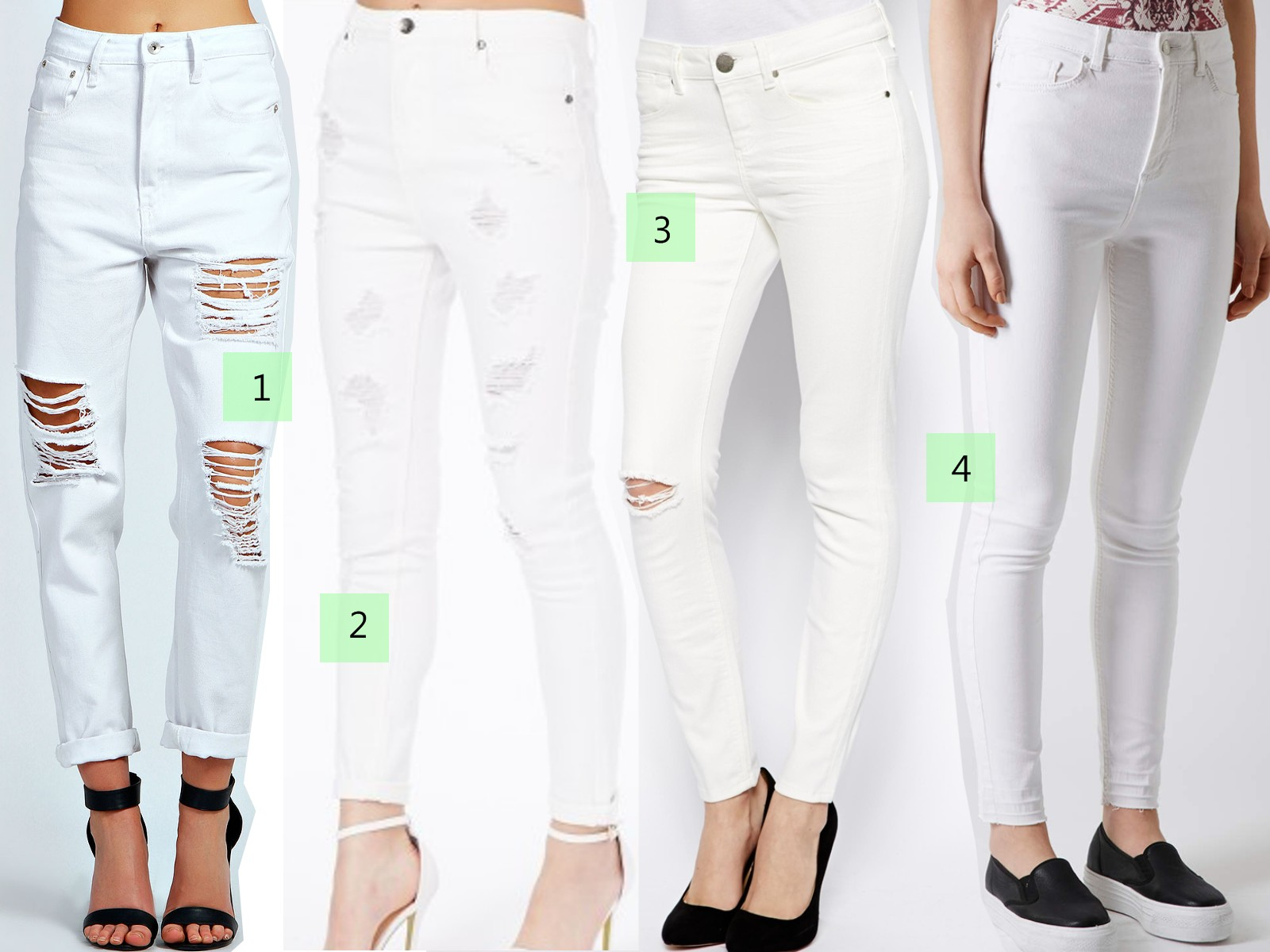 White Jeans Outfits Fashion Trend