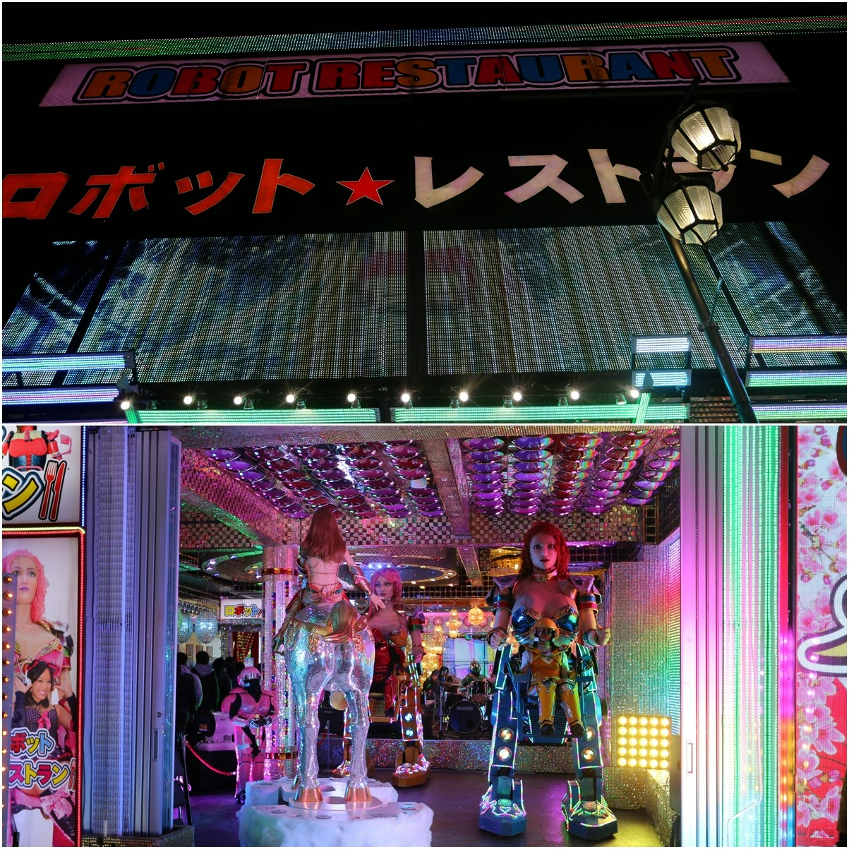 Popular Robot Restaurant with crowded customers at Shinjuku in Tokyo, Japan