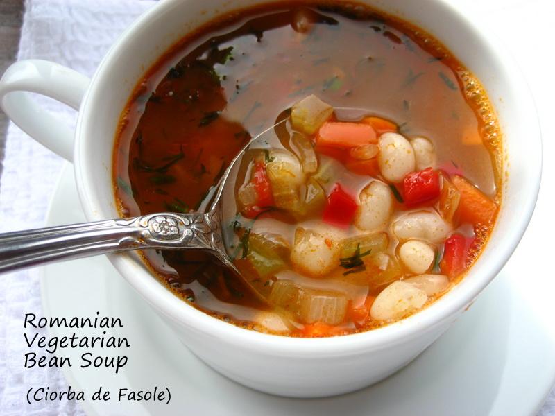 Home cooking in montana romanian vegetarian white bean soup romanian vegetarian white bean soup ciorba de fasole forumfinder Image collections