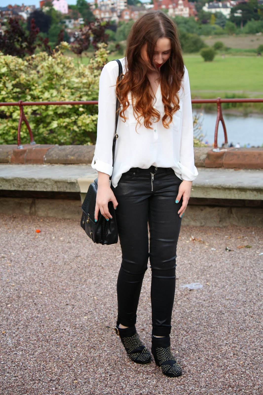 Forever 21 shirt, all saints jeans, forever 21 boots, front ootd photo