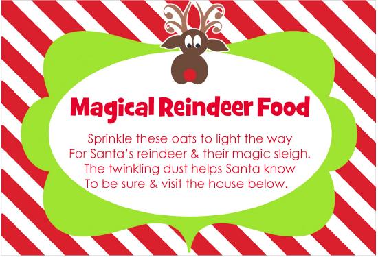 Free Reindeer Food Bar Printables | Search Results | Calendar 2015