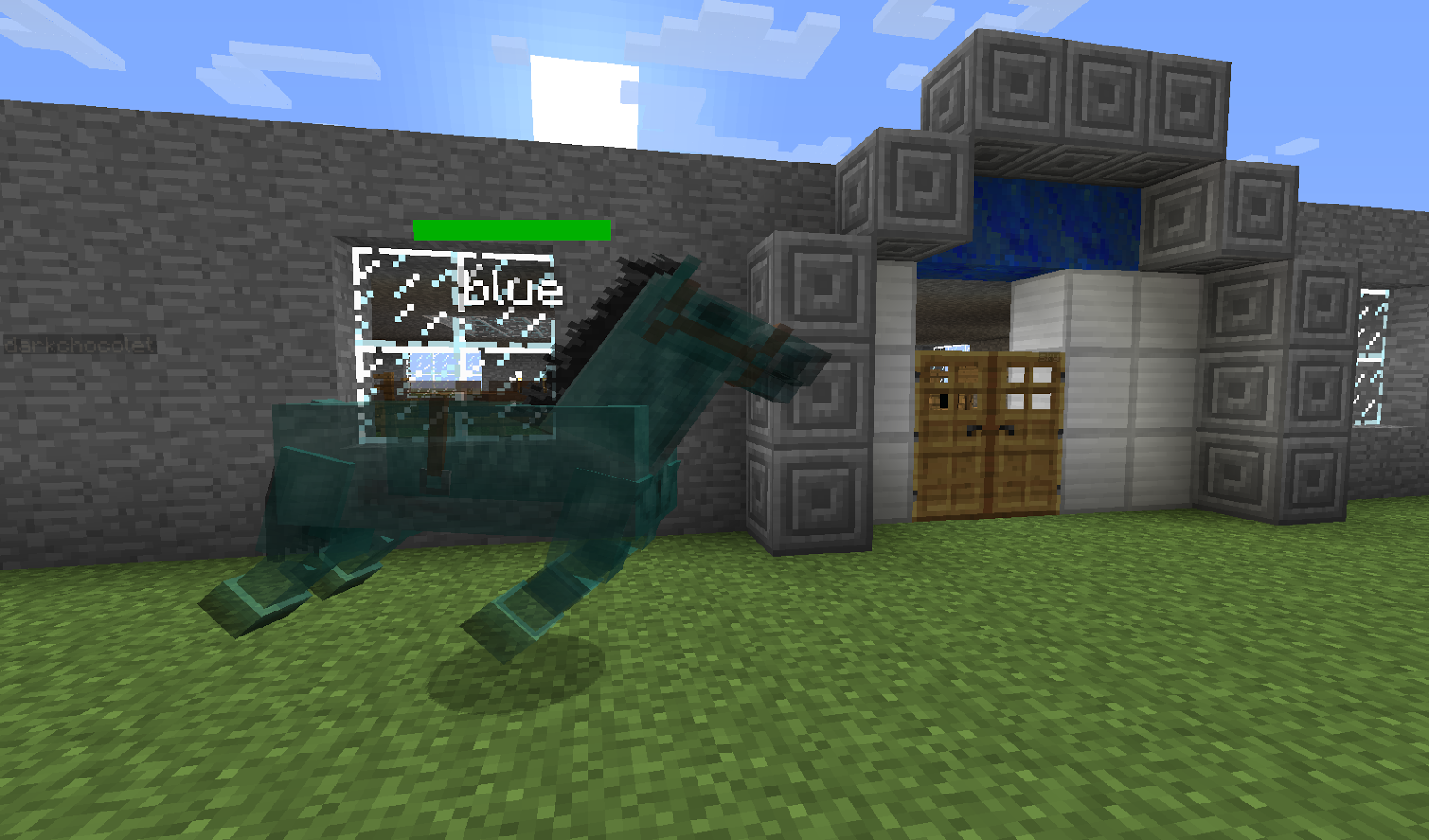 how to take a horse in minecraft