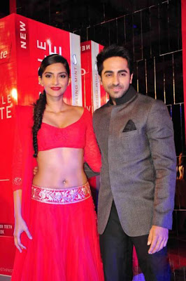 Sonam Kapoor Latest Hot Navel Stills at Colgate Event