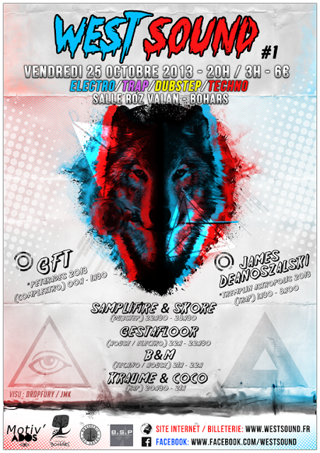 WestSound #1 - vendredi 25 octobre 2013 - @Bohars - GFT - James Deanoszalski - Samplifire - Gestafloor - SKORE - Salle Roz Valan