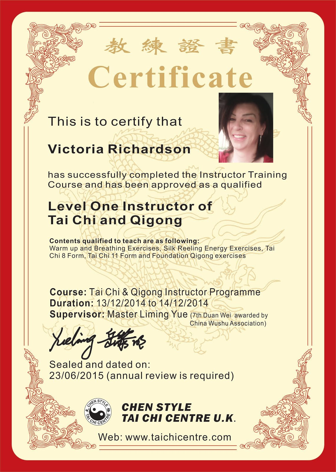 Tai Chi & Qigong Instructor