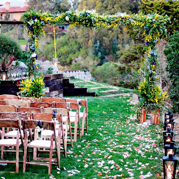 wedding inspiration center beautiful outdoor wedding reception decor