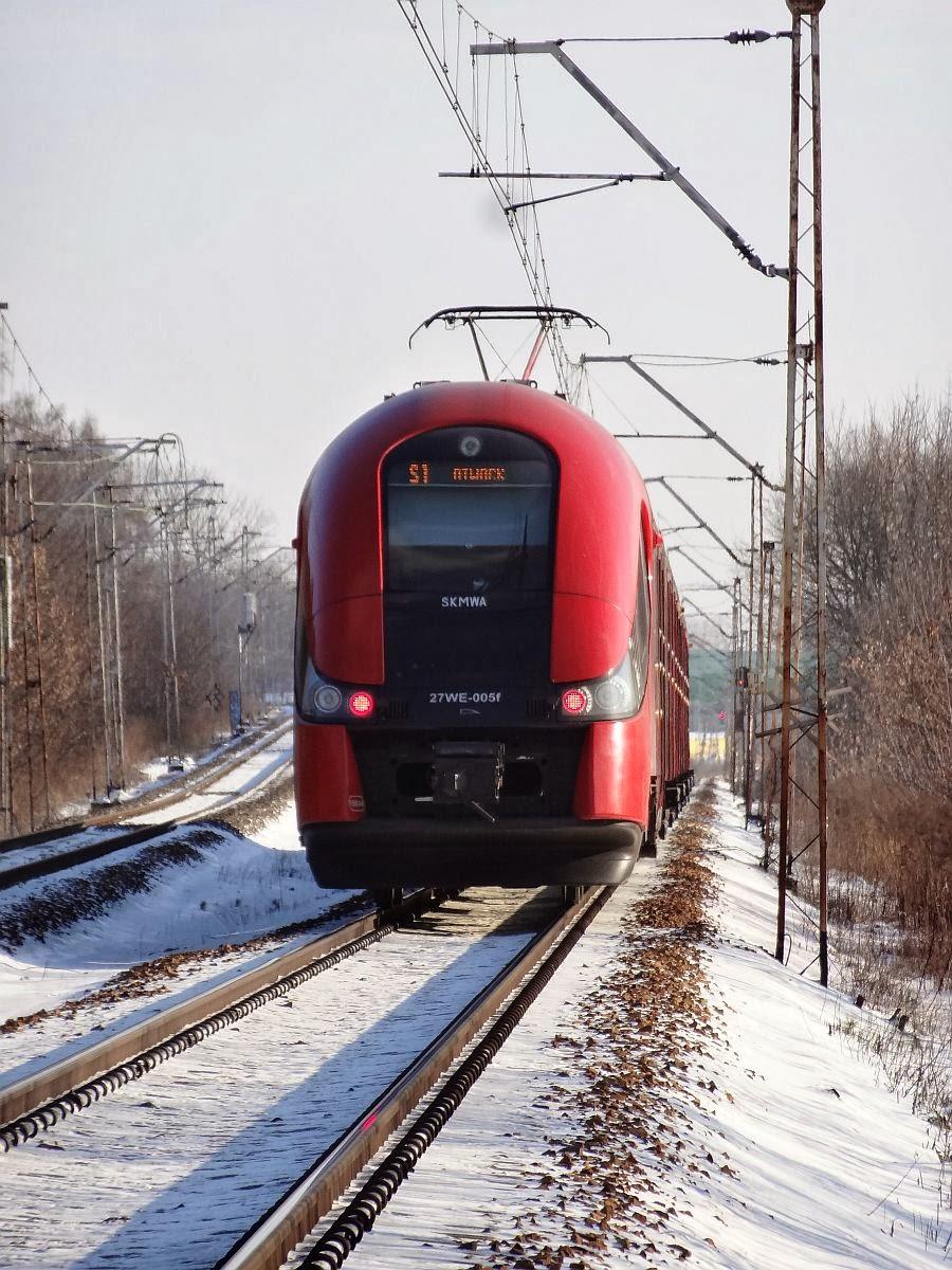 27WE-005 SKM na zimowej linii kolejowej nr 7