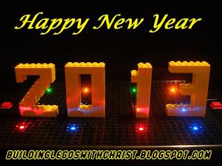 Happy New Year Brick Creation 2013