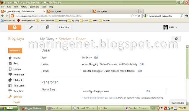 Tampilan Baru Blogger, setelan, setting, new look blogger