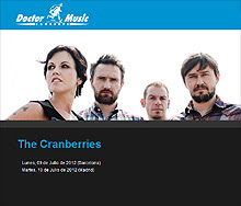 A la venta entradas para The Cranberries en Barcelona y Madrid en julio