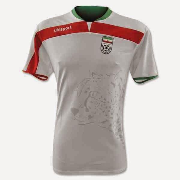 Kostum Timnas Iran Piala Dunia 2014