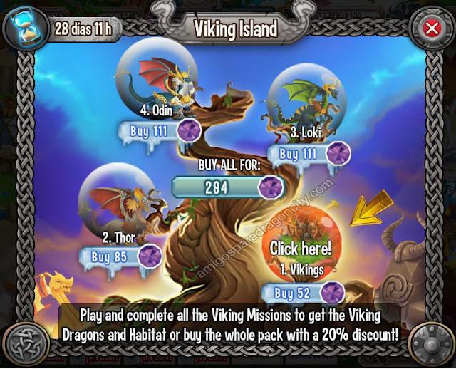 imagen de los mini juegos de la isla vikingo de dragon city