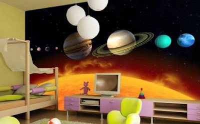 dormitorio moderno niña foto mural