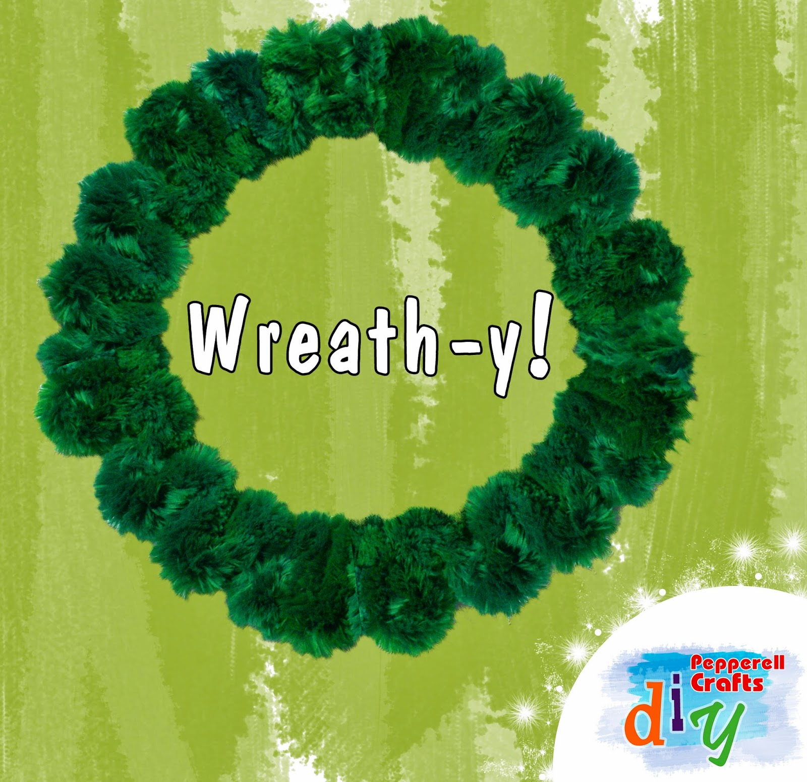 DIY - making Noodle Roonie Wreaths with Pepperell Crafts