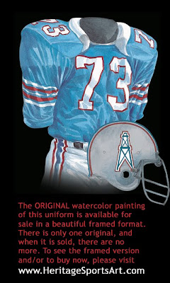 Houston Oilers 1969 uniform - Tennessee Titans 1969 uniform