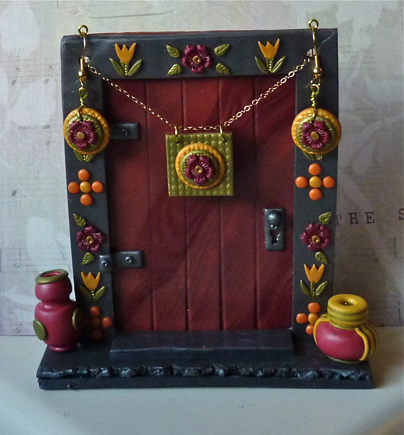 Knightwork playing with clay polymer clay fairy door for Works elf door