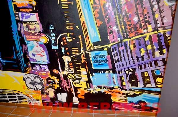 Mural ciudad impresionista