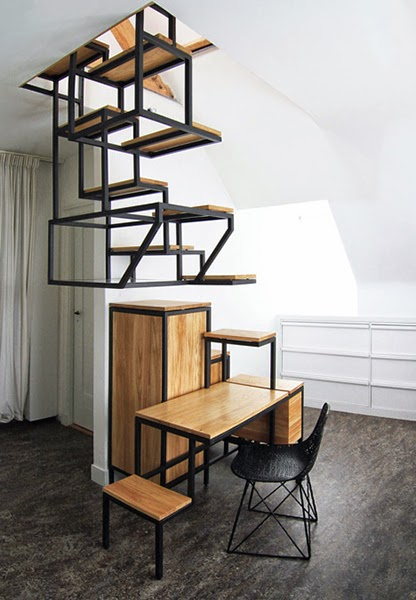 compact staircase, space saver stairs