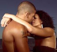 romantic black couple