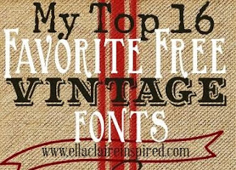 My Favorite Free Vintage Fonts