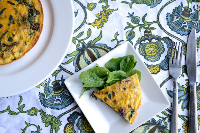 Spinach and Mushroom Frittata 2