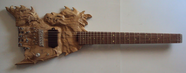 carved electric guitar guitarra escultura