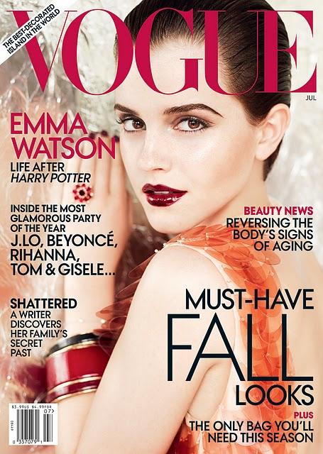 emma watson vogue 2011 us. VOGUE US July 2011 Emma Watson