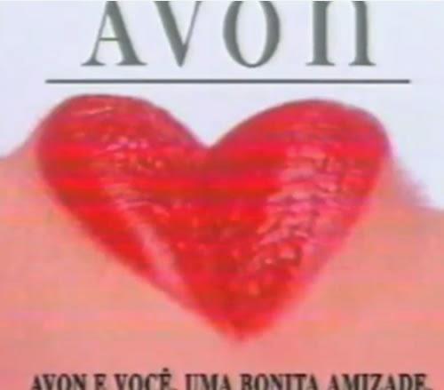 Propaganda da Avon para o Dia dos Namorados em 1994.