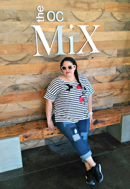 cid style file, patchwork jeans, old navy, h and m, plus size fashion, plus size blogger, fashion blogger, outfit of the day, latina blogger