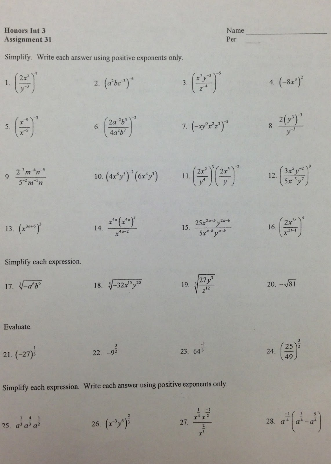 worksheet Exponents And Exponential Functions Worksheets ml1983mathematics exponents exponential functions and logarithms worksheets keys