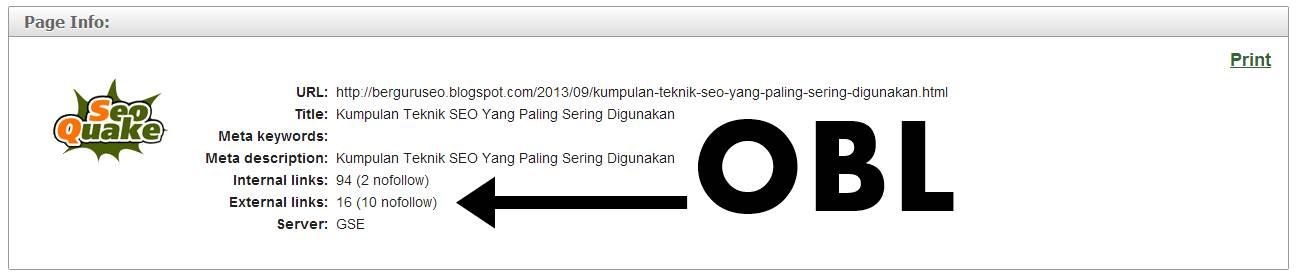 Backlink Blog Berkualitas dengan OBL Rendah